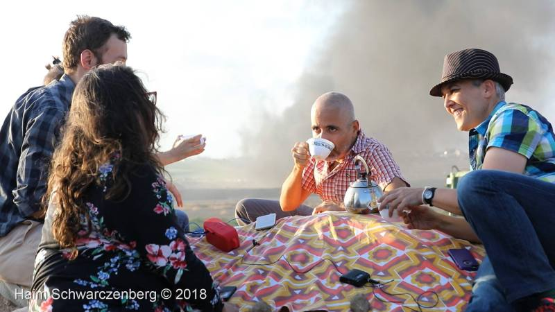 September 7: Tea party against apartheid at the Gaza fence