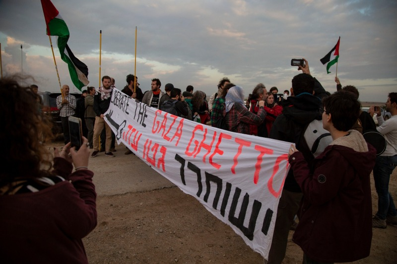 Nov 16: Anti-Zionist Israeli protesters meet with Ahmed Abu Artema of the Great March ofReturn